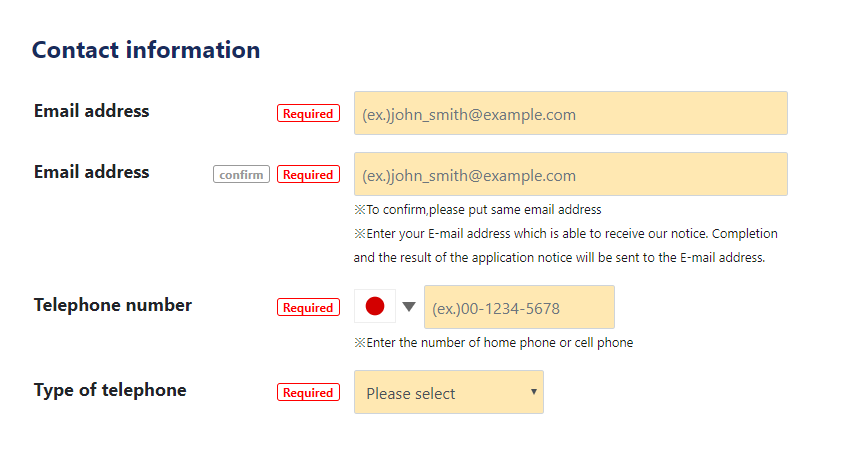 03.Enter your contact information